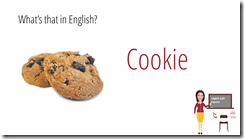 cookie in english sweets vocabulary