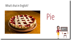 pie in english sweets vocabulary