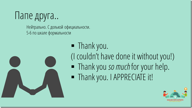 How to say thank you in English 2