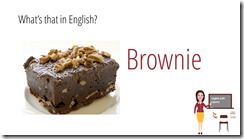 brownie in english sweets vocabulary