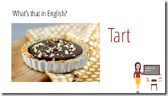 tart in english sweets vocabulary