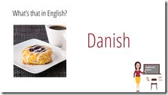 danish in english sweets vocabulary