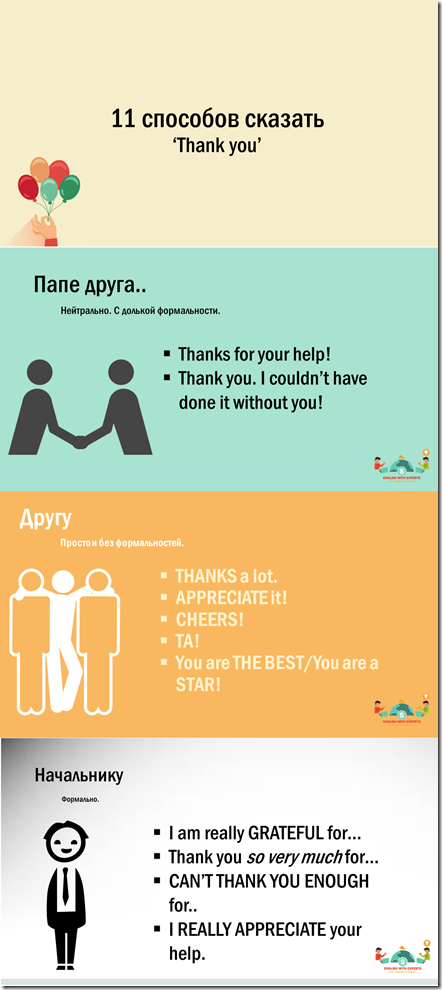11 ways to say thank you in English from Englishwithexperts