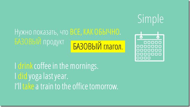 времена в английском simple