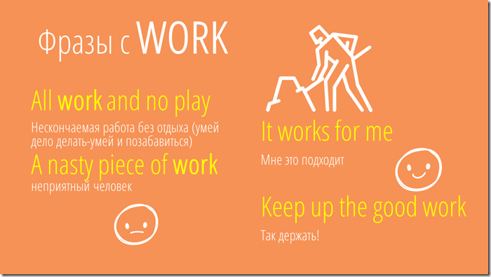 phrases and idioms with work english vocabulary