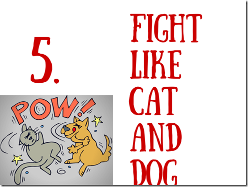 5 Fight like cats and dogs final